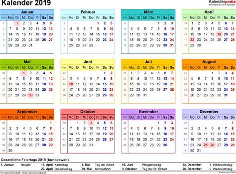 Kalender 2019 Zum Ausdrucken Kalender 2019 Zum Ausdrucken In Excel 16 Vorlagen