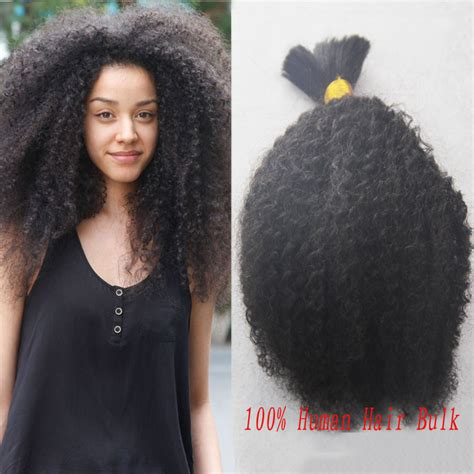 afro hair extension bulk hair 2015hot sale human hair afro curly bulk