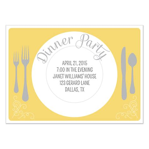 design an invitation card for dinner party pretty plate dinner party invitation invitations cards