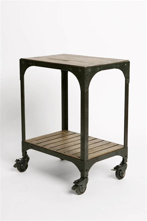 Industrial Side Table Industrial Rolling Side Table Outfitters