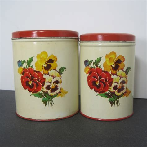 vintage kitchen canister set by parmeco
