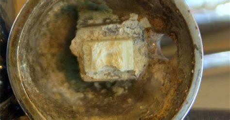 condo blues    green  white corrosion   faucet     fix
