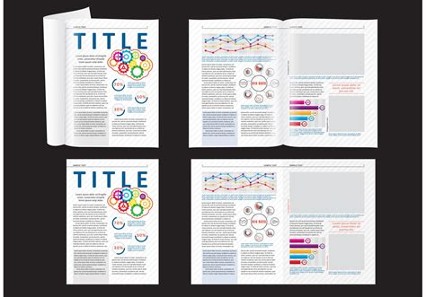 design science journal science magazine layout download free vector art stock