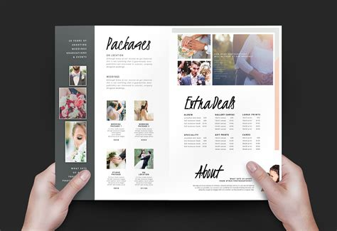 Wedding Photography Brochure Design by Wedding Photographer Brochure Template V3 Brandpacks