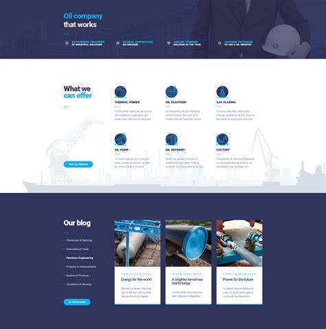 Oildrop Oil And Gas Industrial Wordpress Theme Modern And Gas Company Website Template