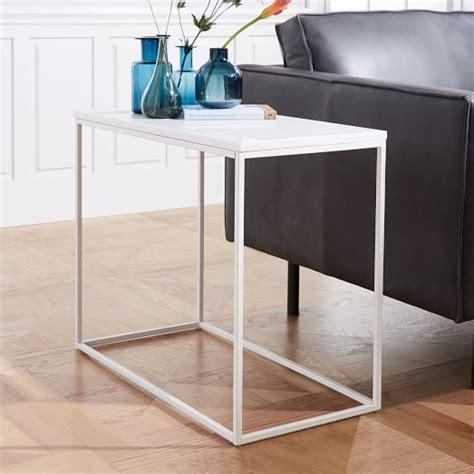 streamline coffee table elm streamline side table white quartz elm