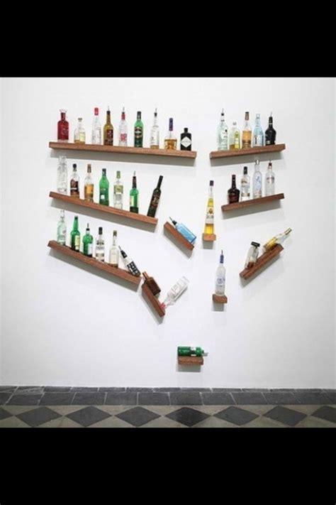creative falling bottles shelf display