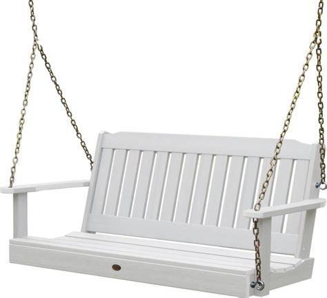 plastic outdoor swing sets highwood outdoor synthetic plastic wood porch swing set