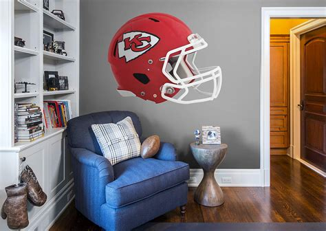kansas city chiefs helmet wall decal shop fathead 174 for