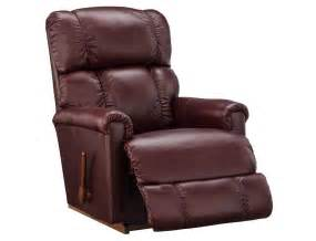 Reclining Leather Sofa by Slumberland La Z Boy Collection Merlot Rocker