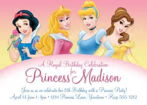 disney princess for birthday invitations ideas