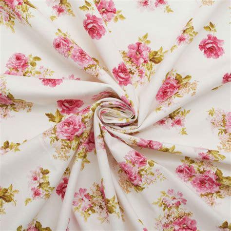 retro curtain fabric vintage chintz shabby roses print retro 100 cotton