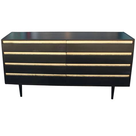 gold dresser bold ebony black and gold leaf eight drawer dresser at 1stdibs