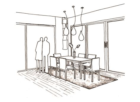 Drawing Dining Room Designs by Perspective Drawings Of A Modern House Sophiequi