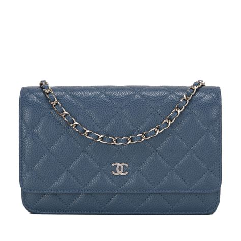 Chanel Caviar Chain chanel blue quilted caviar wallet on chain woc world s