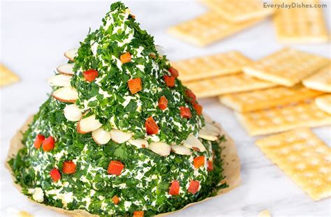 christmas tree cheese ball tree cheese recipe