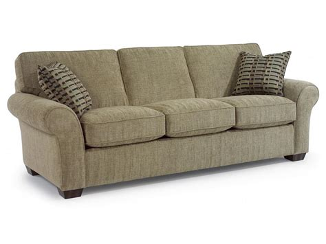 flex steel couches flexsteel living room fabric three cushion sofa 7305 31