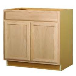 Unfinished Base Kitchen Cabinets Shop Project Source 36 0 In W X 35 0 In H X 23 75 In D Sink Base Cabinet At Lowes