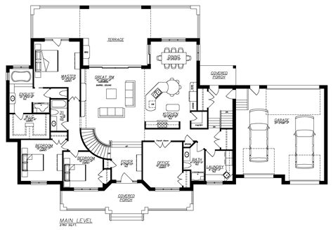 basement entry floor plans floor plans with basement house plan the asiago ridge by