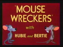 looney tunes title card template mouse wreckers