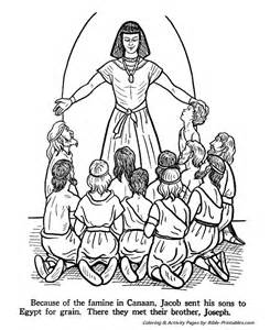 Joseph Bible Coloring Pages free coloring pages of joseph s coat of many colors