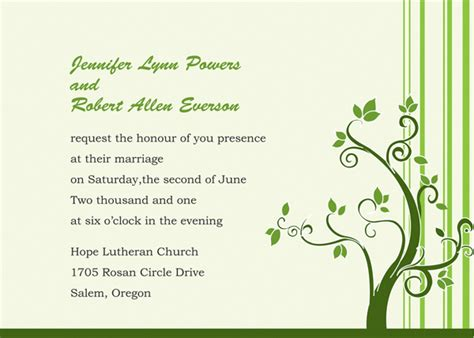 Creative Wedding Invitation Letter Ideas Of The Wording Of Your Wedding Invitations