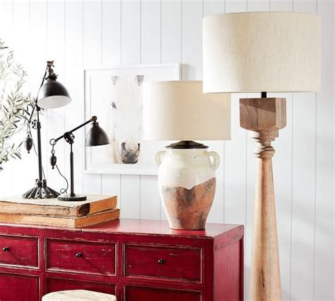 Finn Turned Wood Floor Lamp Base   Pottery Barn