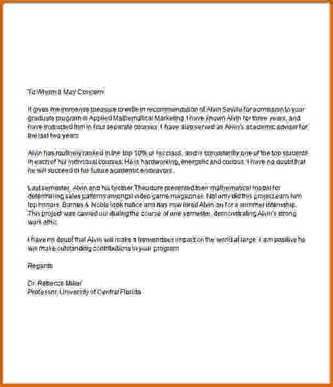 Recommendation Letter For Graduate School 12 Letter Of Recommendation Graduate School Lease Template