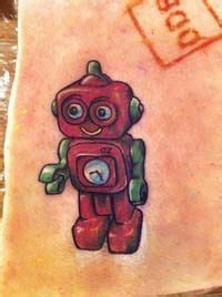 cartoon robot tattoo haha this is one of my favorite robot cartoon things i