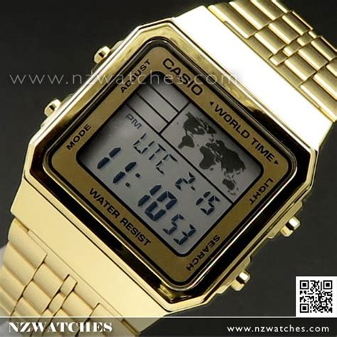 Casio A500wa 1df Stainless Steel World Time 100 New Original buy casio world time alarms digital a500wga 9df buy watches casio nz watches