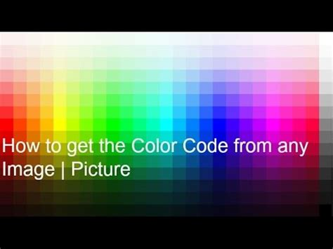 get color code from image how to get the color code from any image picture