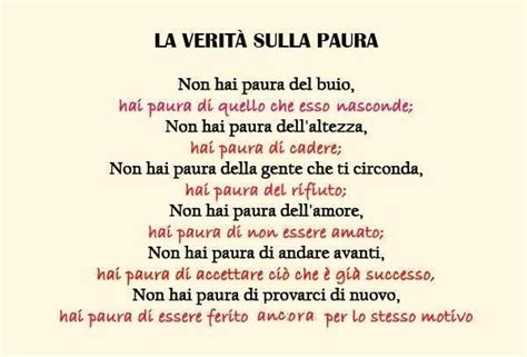 la paura che testo 140 best images about frasi on tes and