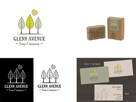 design label manufacturing inc glenn avenue soap company packaging by jelena117 potd99