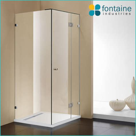 bathtub base oxley frameless shower screen 900mm for base fontaine industries