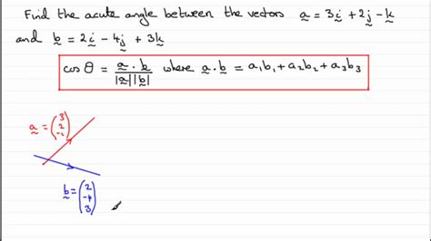 tutorial vector and scalar vectors scalar or dot product examsolutions youtube