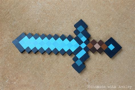 tutorial design your own minecraft sword diy minecraft sword wooden sword tutorial handmade