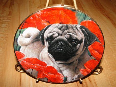 pug plates pugs poppy dogs simon mendez danbury mint pug plate