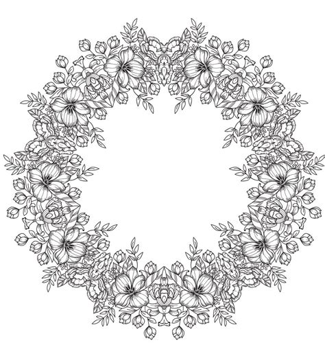 Flower Crown Coloring Page | flower crown mandala from justcolorin com free coloring