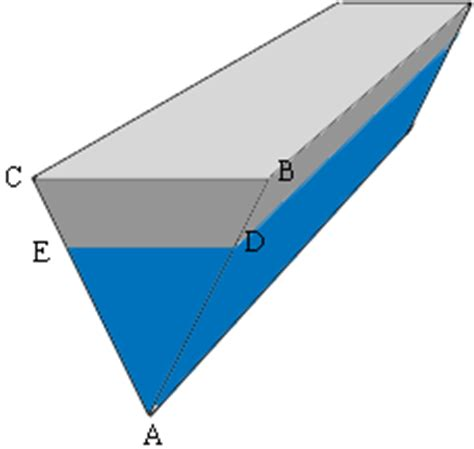 cross section of a triangular prism a barge of triangular cross section math central