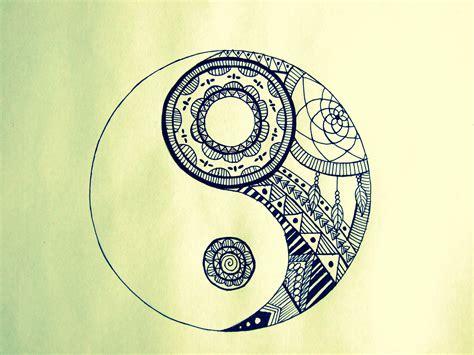 Zentangle Design by How To Draw Yin Yang Mandala Youtube