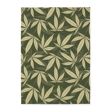 Leaf Pattern Rugs marijuana leaf pattern 5 x7 area rug by admin cp11748871