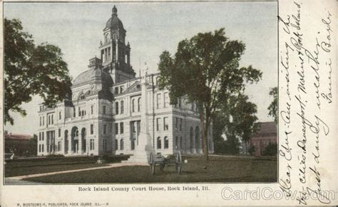Rock Island County Court Search Rock Island County Court House Postcard