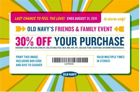 old navy coupons friends and family canadian daily deals old navy canada friends and family