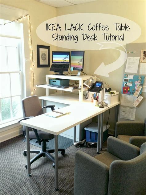 Ikea Lack Standing Desk An Ergonomic Standing Desk Hack Whose Look Is Clean And Modern Also Inexpensive At Just A