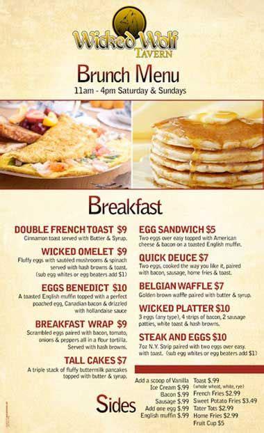 breakfast menu ideas  wicked wolf  hoboken   serving brunch donuts breakfast