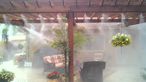 patio misting system with mate cool patio 30 professional
