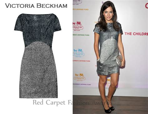 In Beckhams Closet Marc Carpet Fashion Awards by In Camilla S Closet Beckham Two Tone Silk