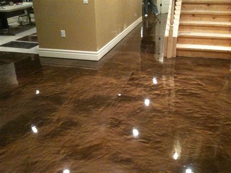 3d Epoxy Floors. Fabulous D Epoxy Gray Metallic Floor With