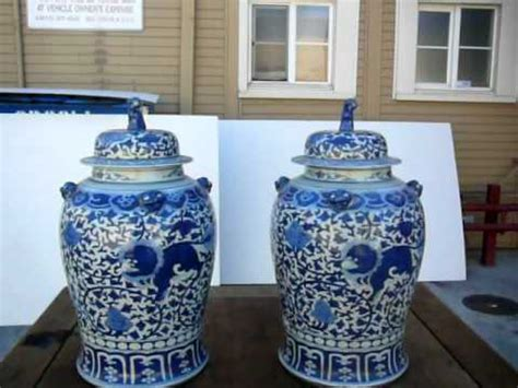 blue and white jar ls pair blue and white general vase jar with foo