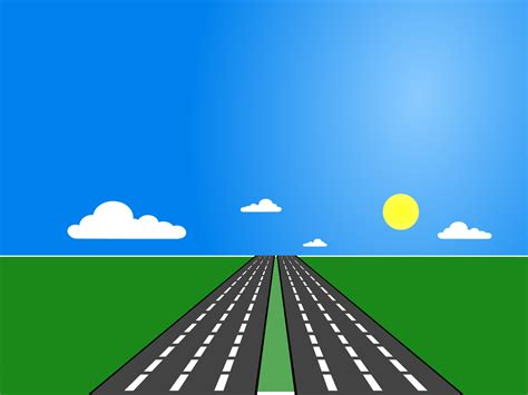 Road Transportation Backgrounds Blue Green Powerpoint Templates Transportation